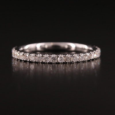 18K Diamond Prong Set Eternity Band