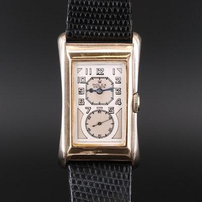 Vintage Rolex Prince 9K Gold Doctors Stem Wind Wristwatch