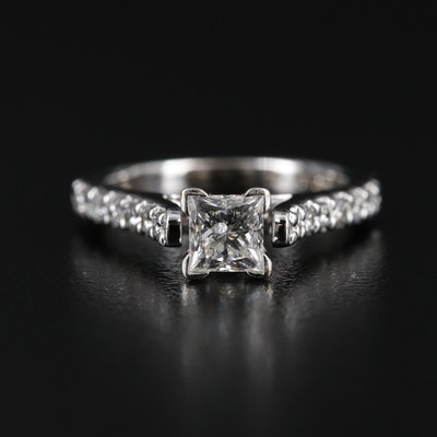 18K White Gold 1.04 CTW Diamond Ring