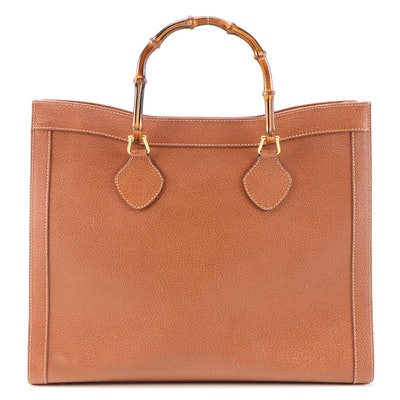 Gucci Bamboo Brown Leather Tote Bag
