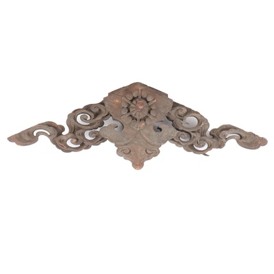 Japanese Carved Wood Architectural Element