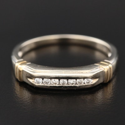 14K Gold Channel Set Diamond Ring