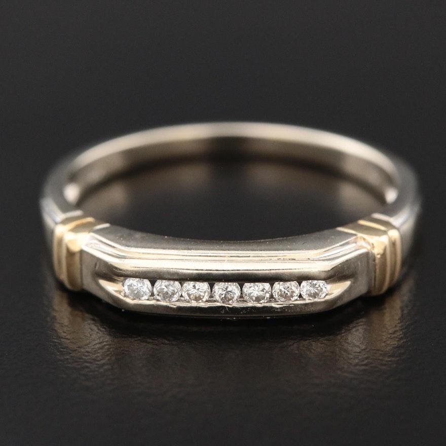 14K Gold Channel Set Diamond Ring