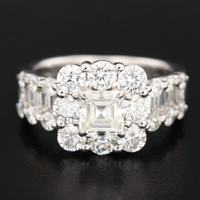 Platinum 2.33 CTW Diamond Ring