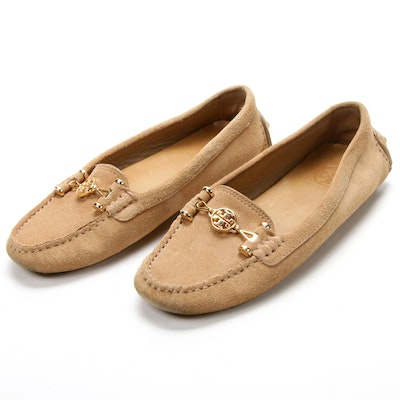 Tory Burch Daria Suede Driving Loafers