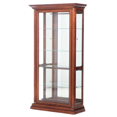 Pulaski Mahogany-Stained Illuminated Display Cabinet