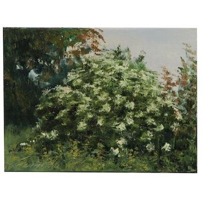 "Garncarek Aleksander Landscape Oil Painting ""Dziki Bez"""