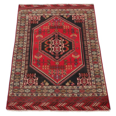4'4 x 6'2 Hand-Knotted Persian Abadeh Rug