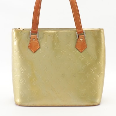 Louis Vuitton Houston Bag in Monogram Vernis and Vachetta Leather