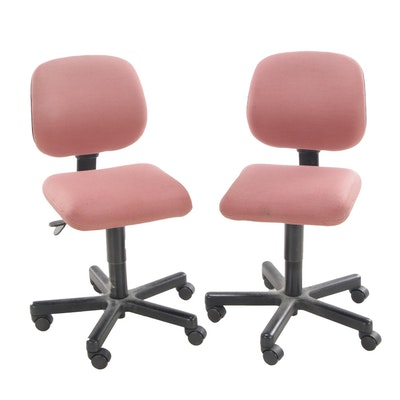 Two Harter Contract Adjustable Office Chairs, Late 20th Century