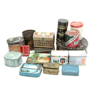 Riley's Toffee Tin, Granger Pipe Tobacco Tin and Various Other Tins, 20th C.