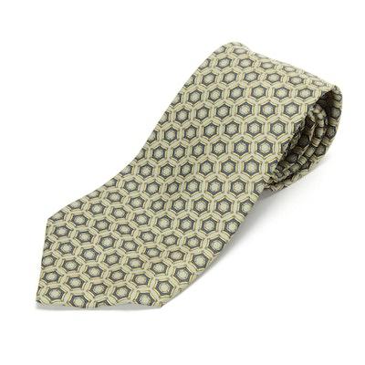 Hermès Paris 7545 SA Hand-Stitched Silk Necktie