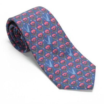 Hermès Paris 7184 UA Hand-Stitched Silk Necktie