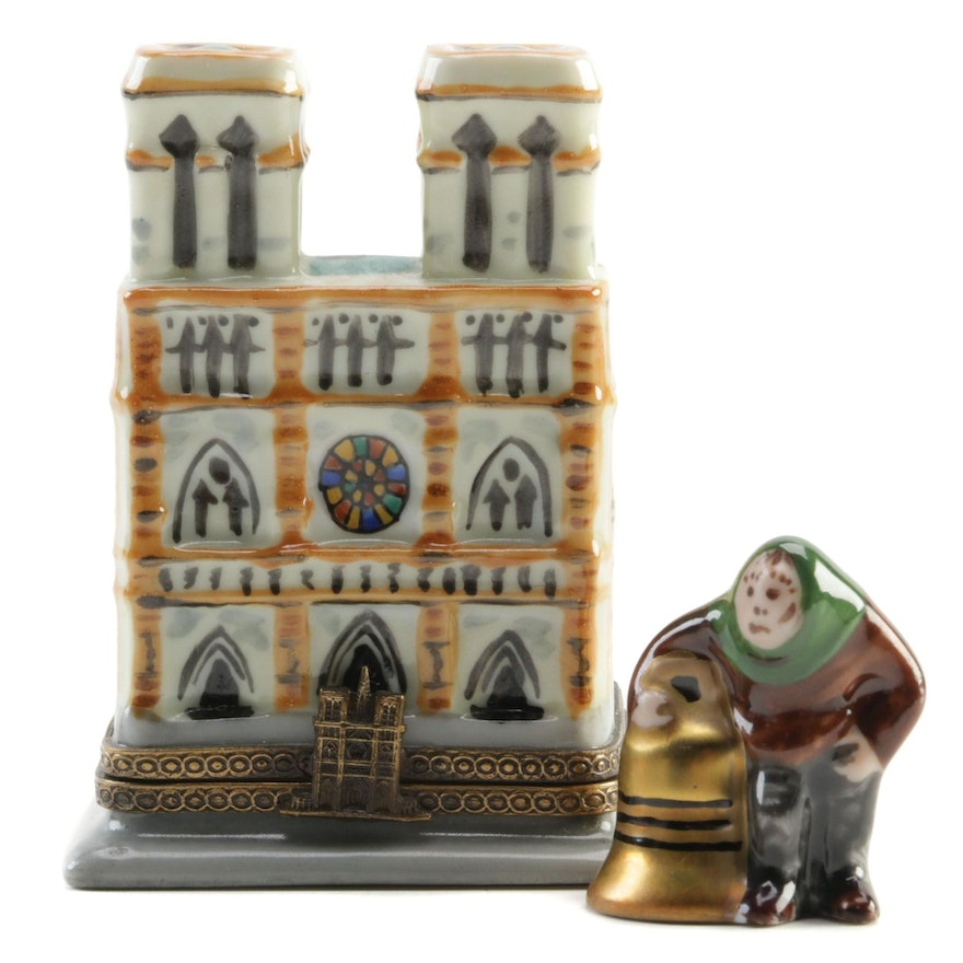 """Chanille Hand-Painted """"Notre Dame"""" Porcelain Limoges Box"""