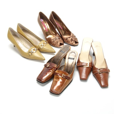 Stuart Weitzman, Anne Klein, and Chinese Laundry Leather Mules and Pumps
