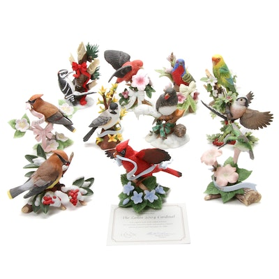 "Lenox ""Carolina Parakeet"" and Other Porcelain Bird Figurines"