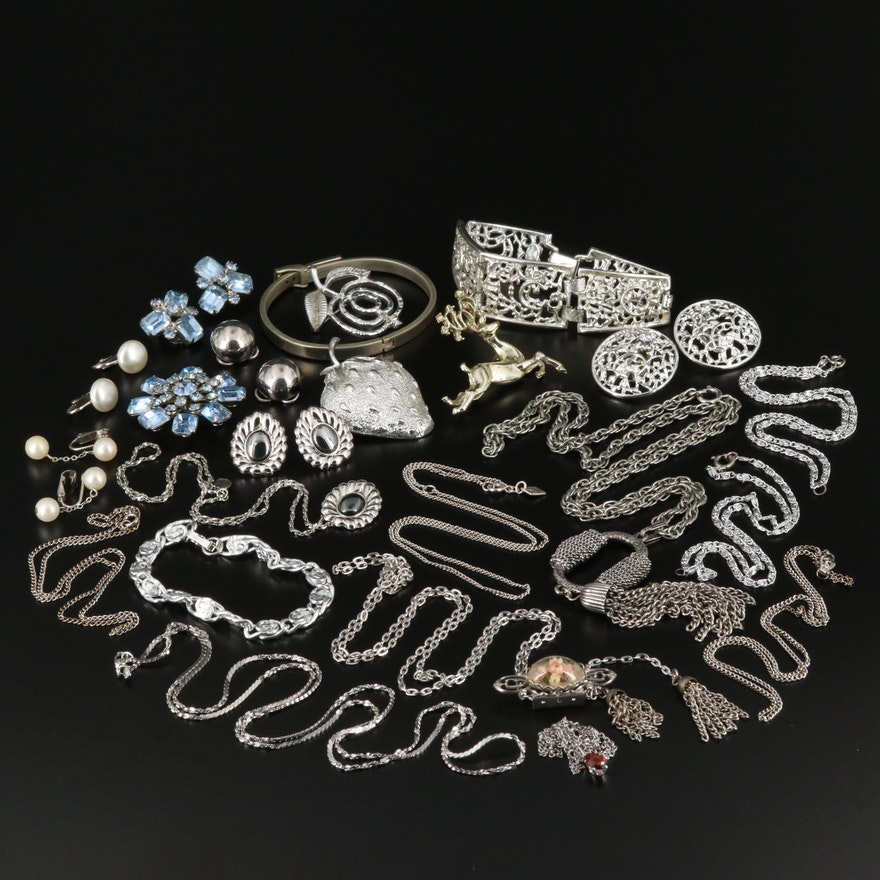 Assorted Jewelry Collection Including Weiss