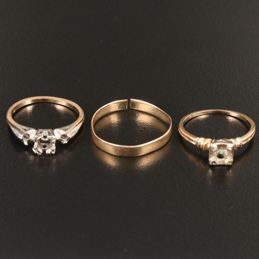 14K Gold Scrap Jewelry Lot