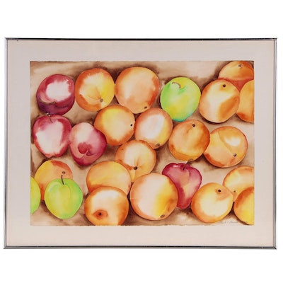 Richard Karwoski Watercolor Painting of Fruit