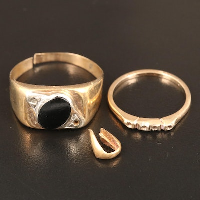 10K, 14K and 18K Gold Scrap with Black Onyx