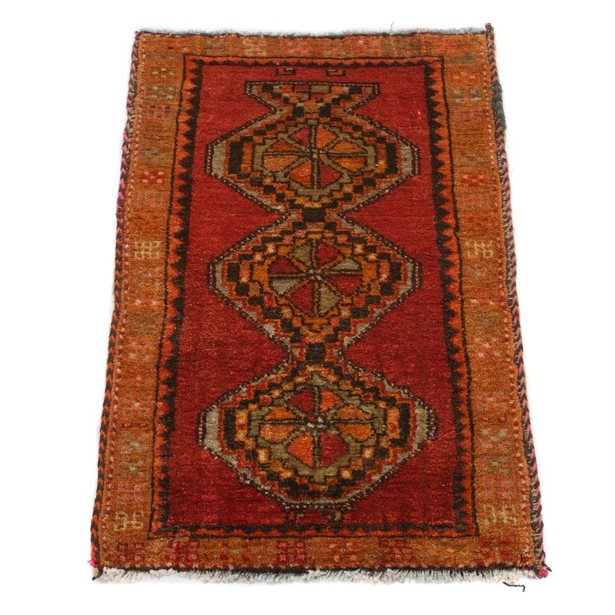 2'2 x 3'2 Hand-Knotted Turkish Village Rug, 1970s