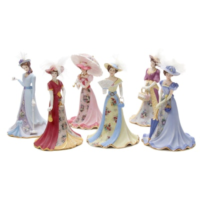 "Bradford Exchange ""Lena Liu's Elegant Era Bell"" Heirloom Porcelain Figurines"