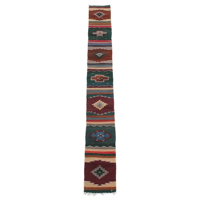1' x 7'2 Handwoven Turkish Kilim Table Runner