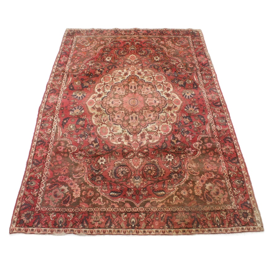 6'10 x 10'2 Hand-Knotted Persian Bakhtiari Rug, 1970s