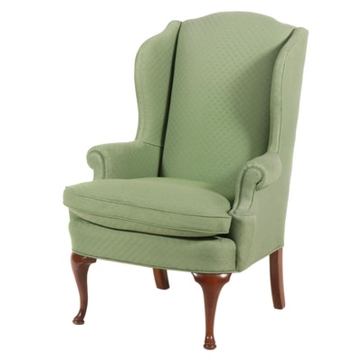 Diamond Upholstered Wingback Chair, 20th Century