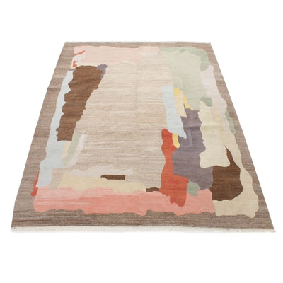 7'10 x 10'4 Hand-Knotted Indo-Persian Gabbeh Room-Size Rug