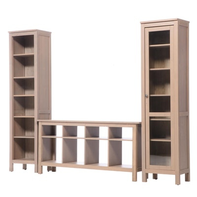 IKEA Contemporary 3-Piece Bookcase Shelving Unit