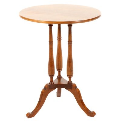 American Primitive Maple Side Table, Late 20th Century