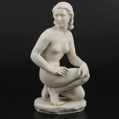 German Bisque Porcelain Female Nude