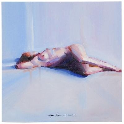 Inga Khanarina Figure Oil Painting of Reclining Female Nude