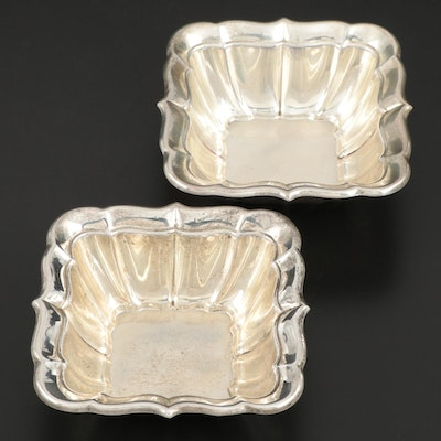 "Reed & Barton for Cartier ""Windsor"" Sterling Silver Mayonnaise Bowls"