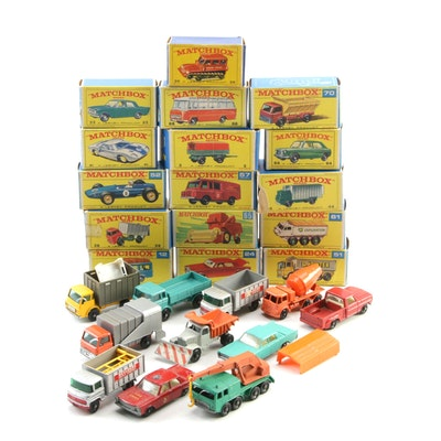 Matchbox Diecast Toy Vehicles with Original Packaging, Mid-20th C.