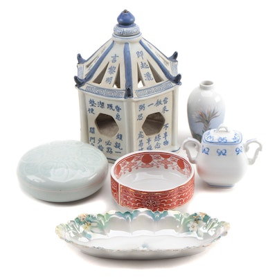 Collection of Porcelain and Crystal Dishes and Decor Featuring Alegre and Briard