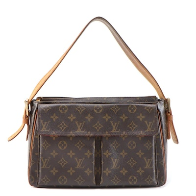 Louis Vuitton Viva Cite GM Shoulder Bag in Monogram Canvas and Vachetta Leather