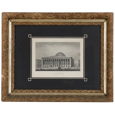 "J. Archer Engraving after Charles H. Billings ""Exchange, New York"", Circa 1853"