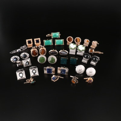 Vintage Cufflinks Assortment featuring Wrap-A-Round by Danté