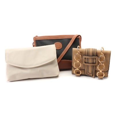 Summit Hill Convertible Clutch, Saddle River Shoulder Bag and Chain Bag