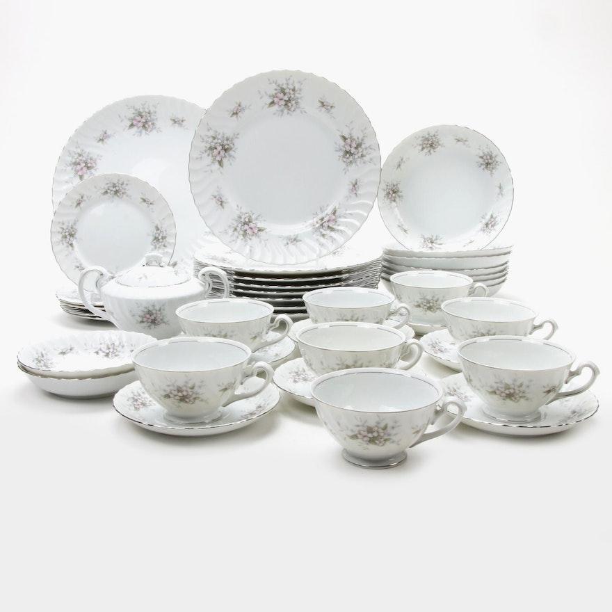 """Amcrest """"Lady Margaret"""" Porcelain Dinner and Serveware"""