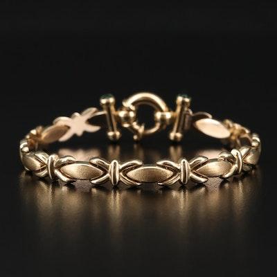 10K Gold Link Bracelet