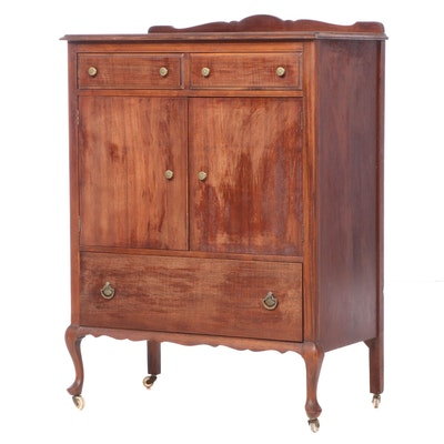 Black Hawk Furniture Stained Wood Wardrobe Cabinet, Early 20th Century