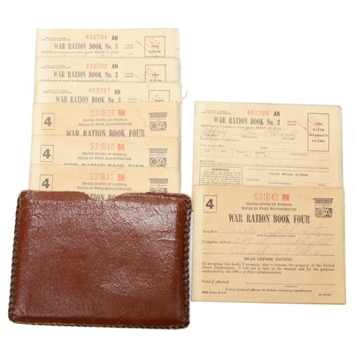 World War II Pouch of U.S. Government Issue War Ration Books