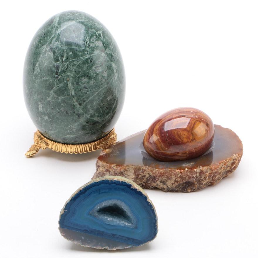 Dyed Agate, Jasper and Granite Polished Specimins