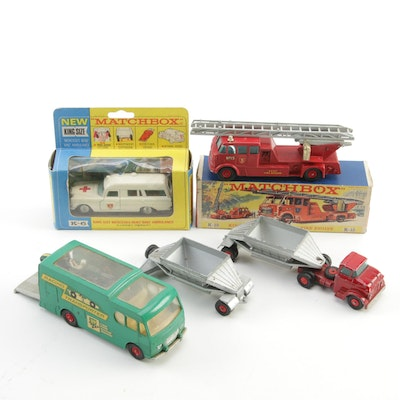 Matchbox King Size Fire Truck and Ambulance in Original Packaging and More