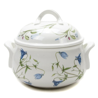 "Portmeirion ""The Queens Hidden Garden"" Porcelain Covered Casserole Dish"