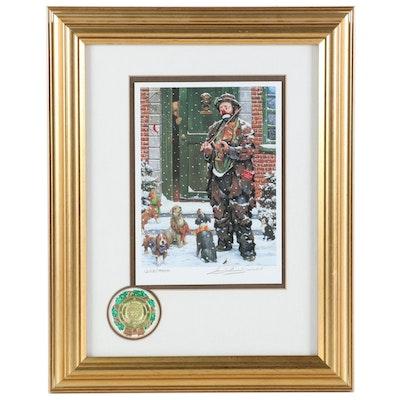 "Barry Leighton-Jones Offset Lithograph ""A Christmas Carol"""