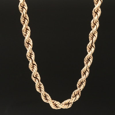 10K French Rope Link Chain